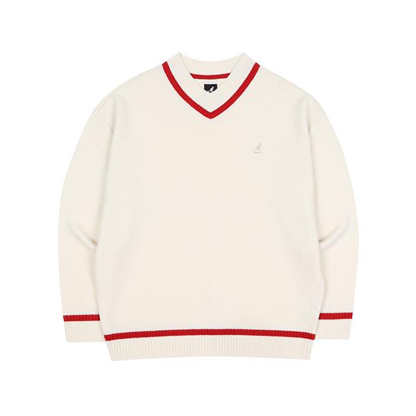 Oversized V-neck Sweater 1809 IVORY