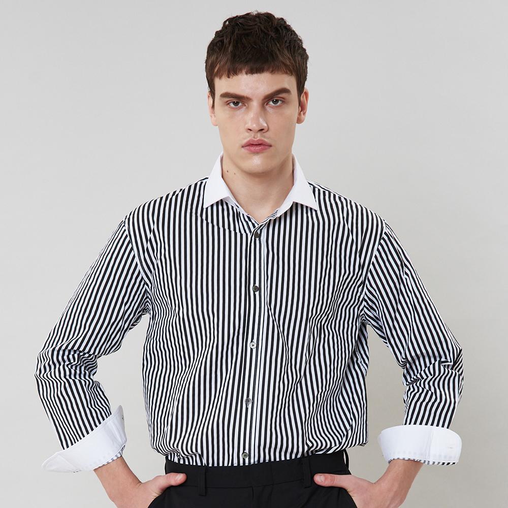 [단독할인][입점특가]블랙 스트라이프 셔츠