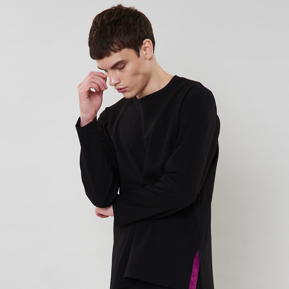 [입점특가]블랙 사이드라인 포인트 티셔츠
