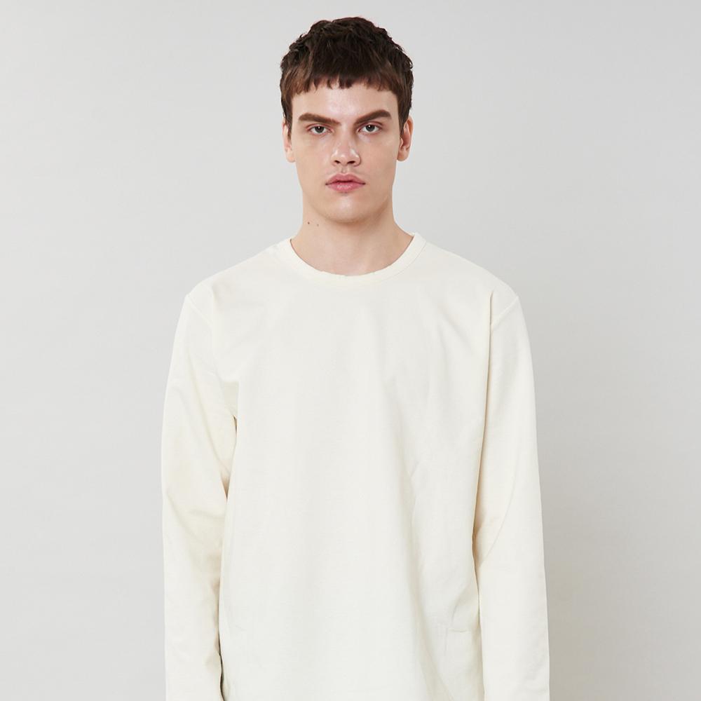 [단독할인][입점특가]아이보리 사이드라인 포인트 티셔츠