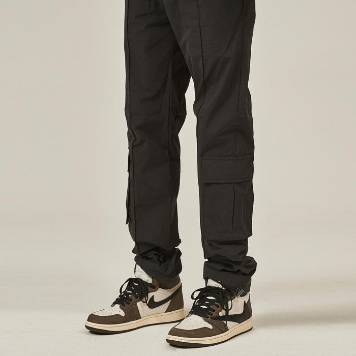 [데드엔드] BLACK PINTUCK CARGO STRING PANTS