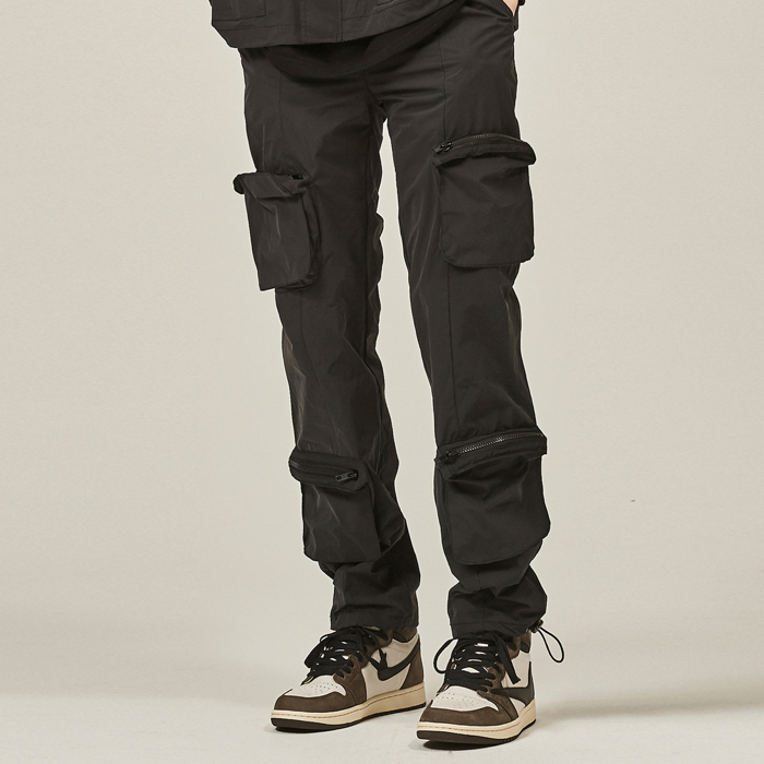 [데드엔드] BLACK 4 POCKET CARGO STRING PANTS