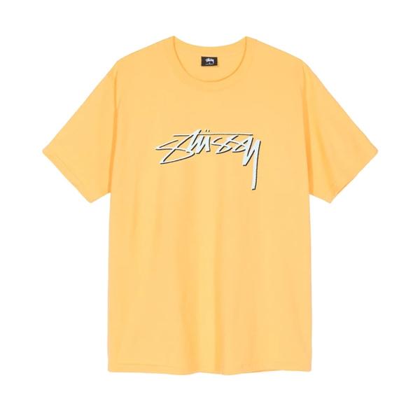 스투시 스무시 스톡 반팔 티셔츠 오렌지