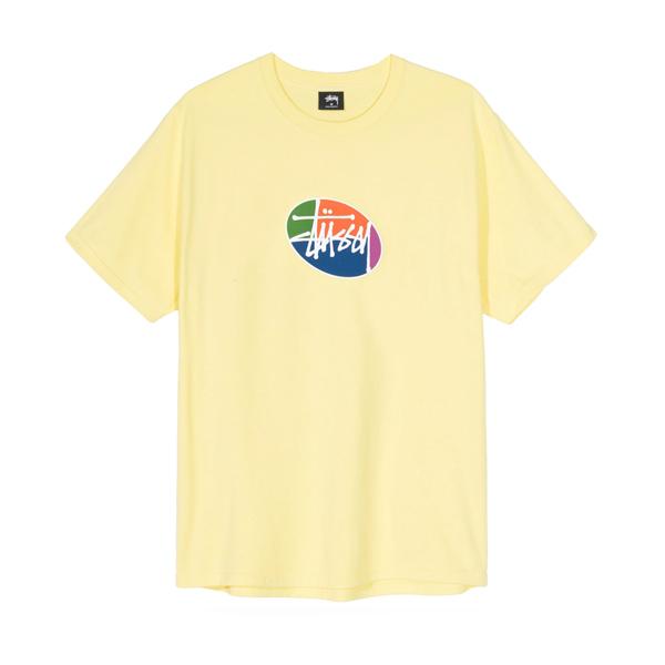 스투시 쿼터 오발 스톡 반팔 티셔츠 레몬