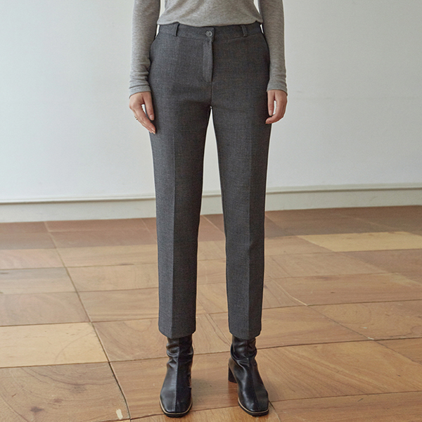 [DEANS] WARM SLIM STRAIGHT SLACKS_GRAY