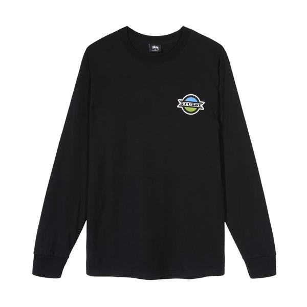스투시 스탑 롱 슬리브 티셔츠 블랙