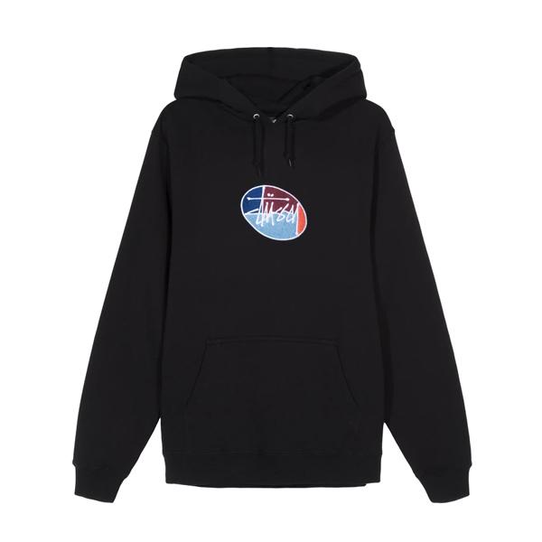 [해외]스투시 오발 로고 후드 티셔츠 블랙