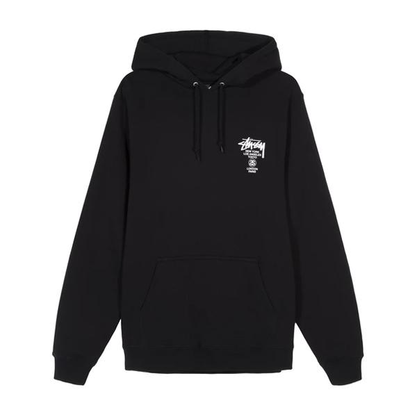 [해외]스투시 월드투어 후드 티셔츠 블랙