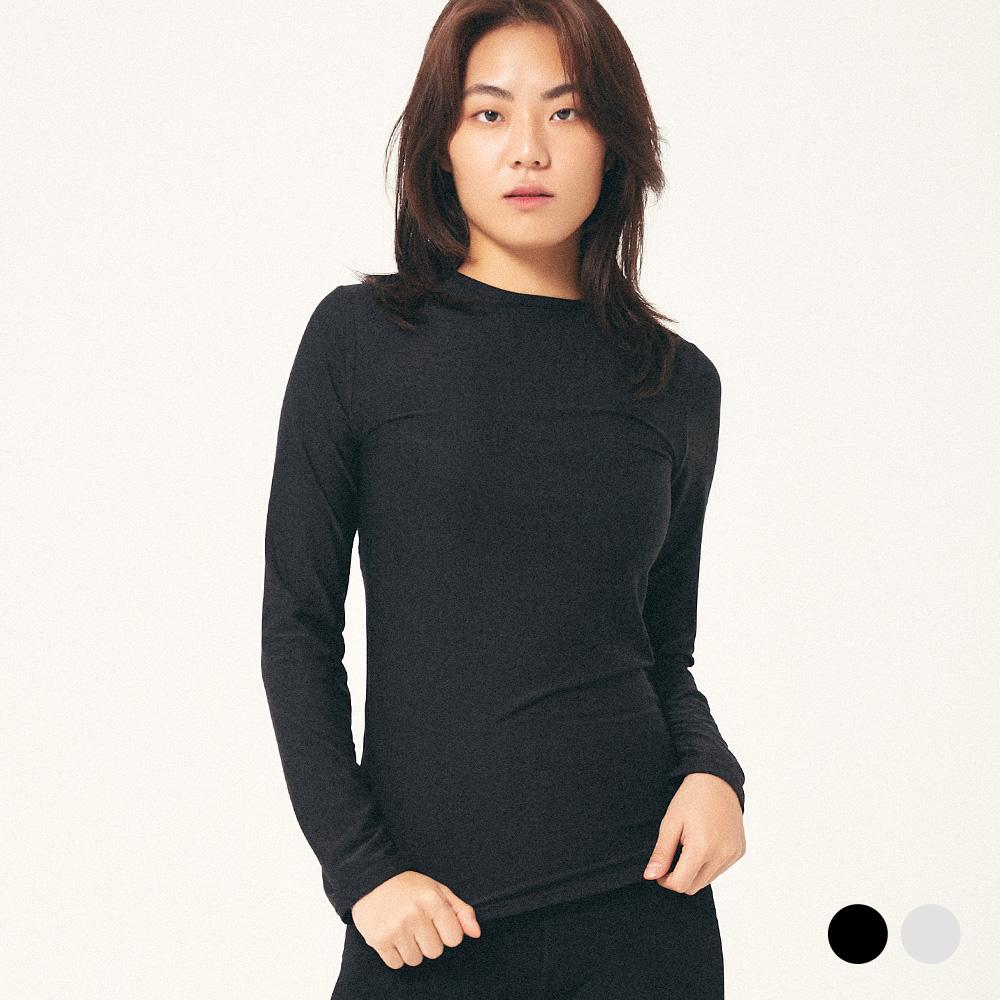 프로젝트624 (WOMEN) 히트텍 이너 라운드 티셔츠 2COLOR
