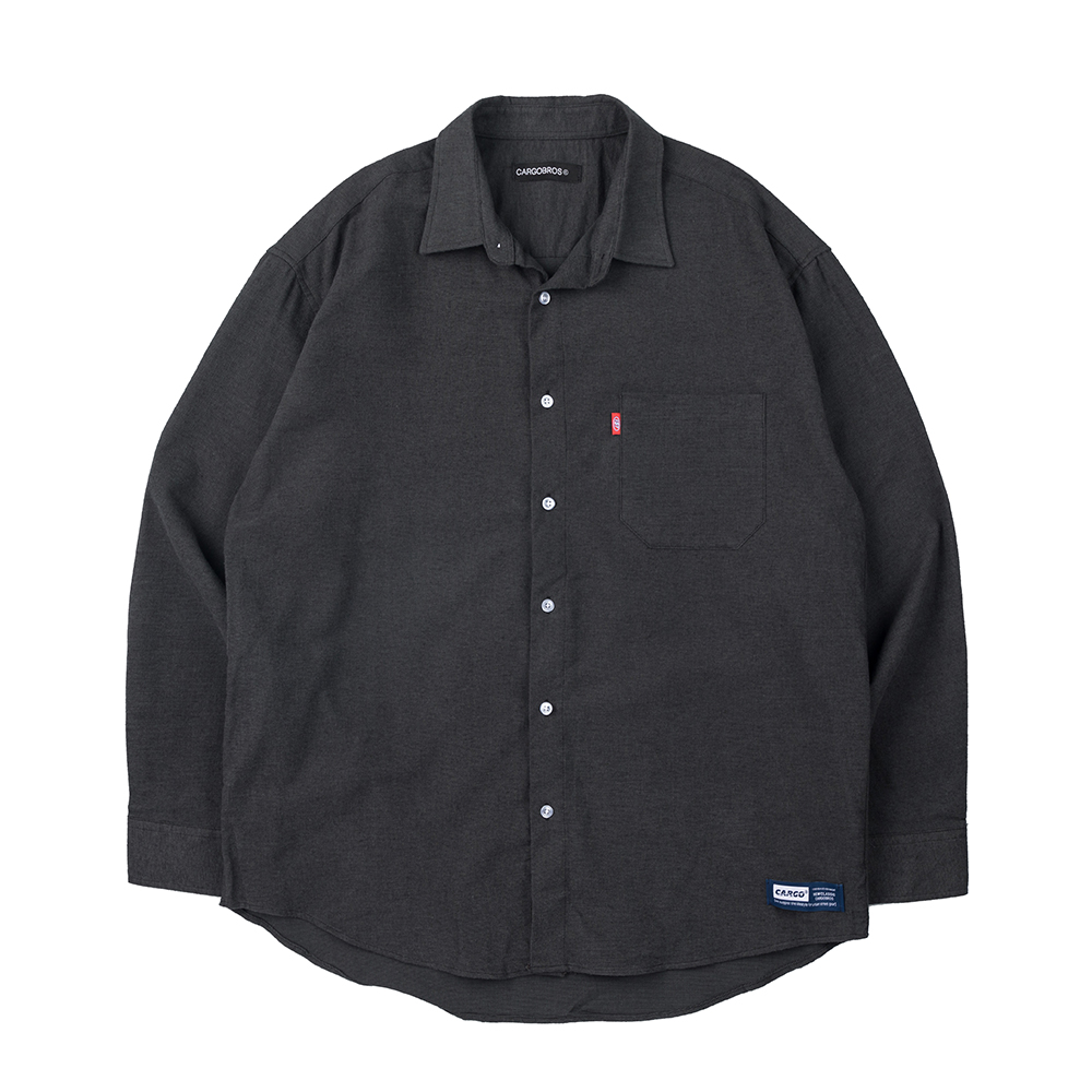 157 SOLID SHIRT (CHARCOAL)