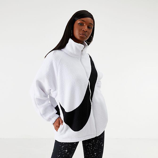 [해외]나이키 여성 빅스우시 쉘파 리버서블 자켓 화이트