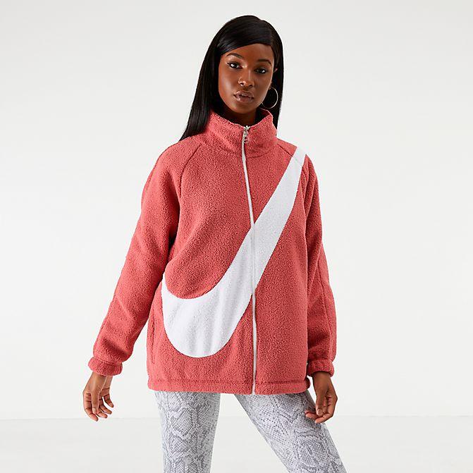 [해외]나이키 여성 빅스우시 쉘파 리버서블 자켓 진핑크