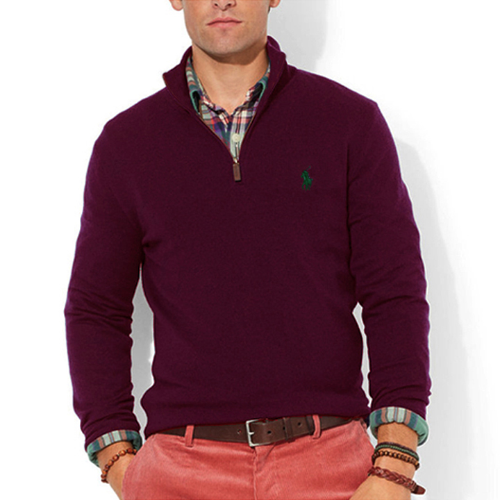 폴로랄프로렌 반집업 니트 스웨터 3158 025 버건디(네이비) POLO