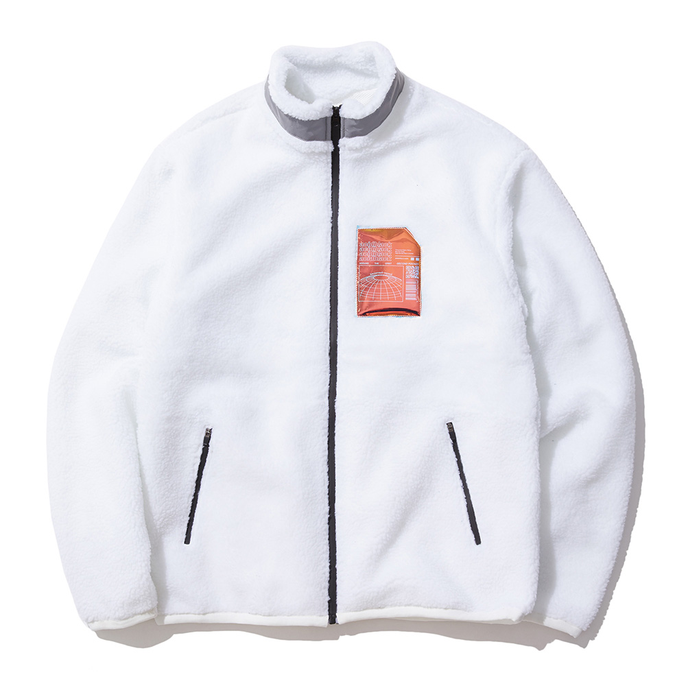 BOA ZIP-UP (WHITE) 양털 보아털 후리스 자켓
