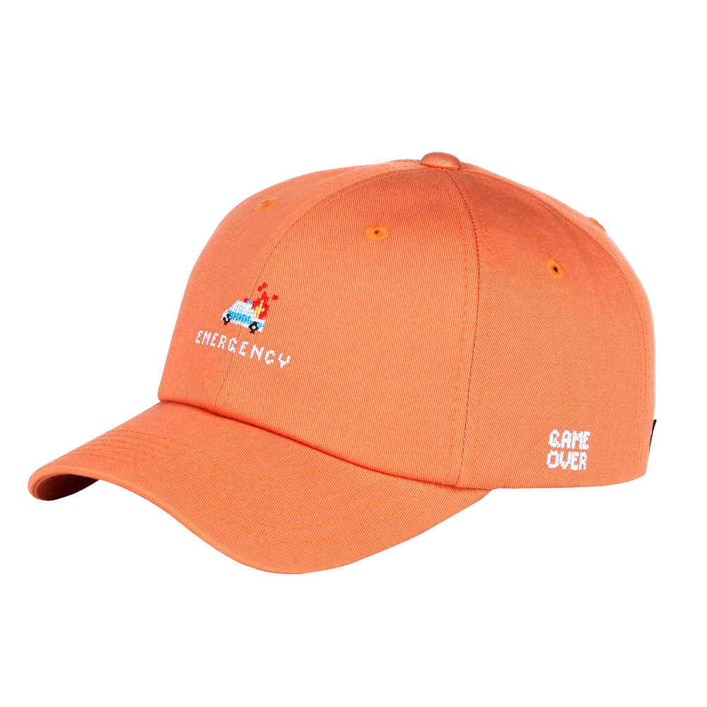 POLICE BASEBALL CAP - ORANGE