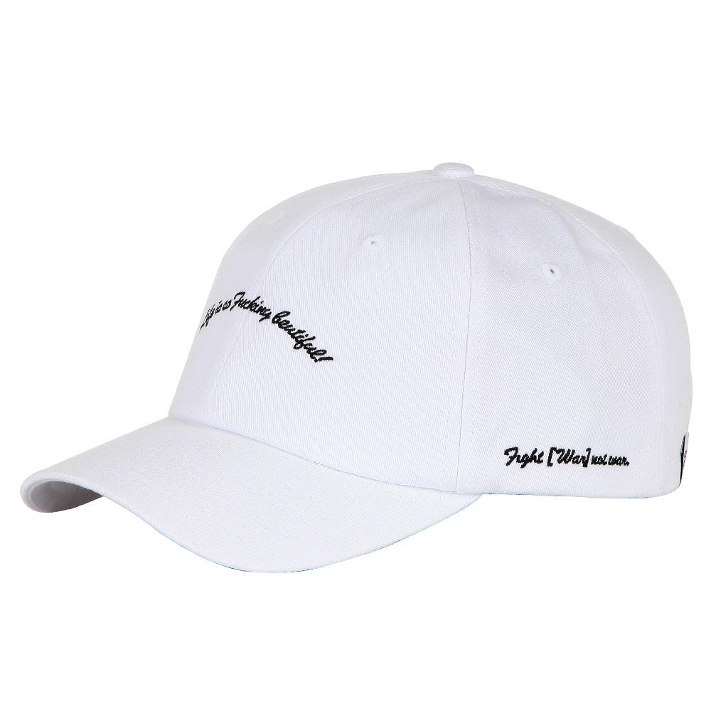 SCRIPT BALL CAP - WHITE