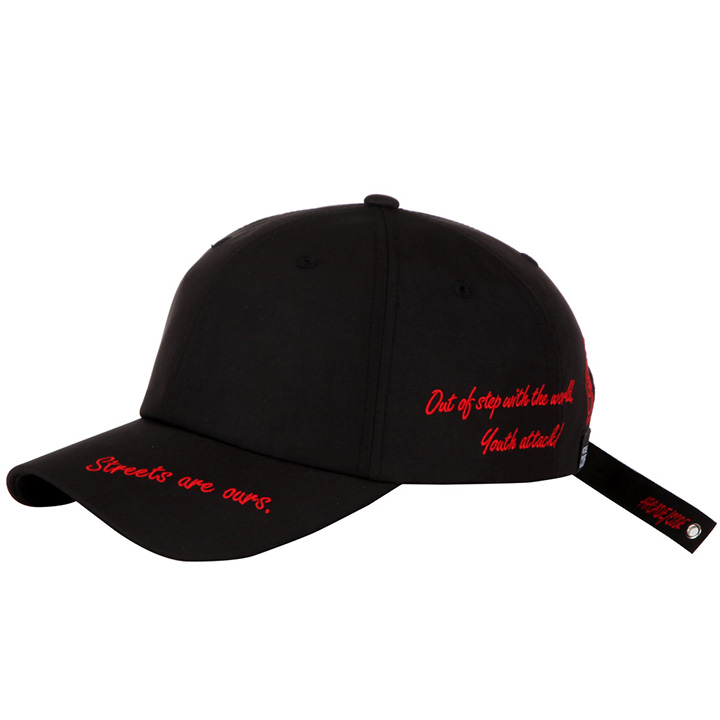[BTS지민 착용] OUT OF STEP BALLCAP - BLACK/RED