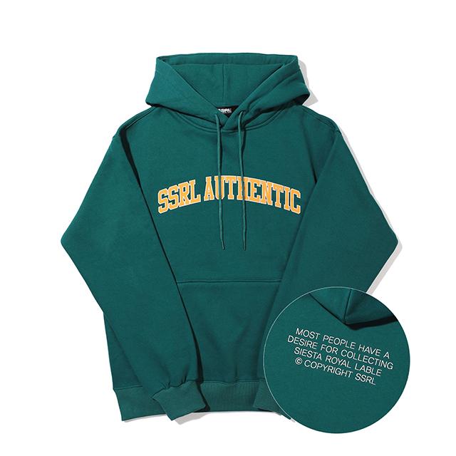 authentic hood / deep green