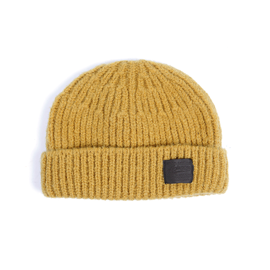 432# WOOL BLACK LABEL WATCH CAP MUSTARD