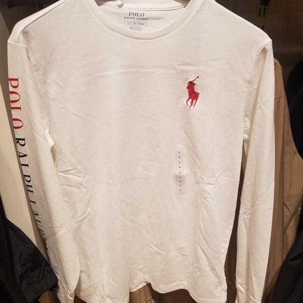 [해외]폴로랄프로렌 미들 로고 팔 레터링 긴팔 티셔츠 4컬러