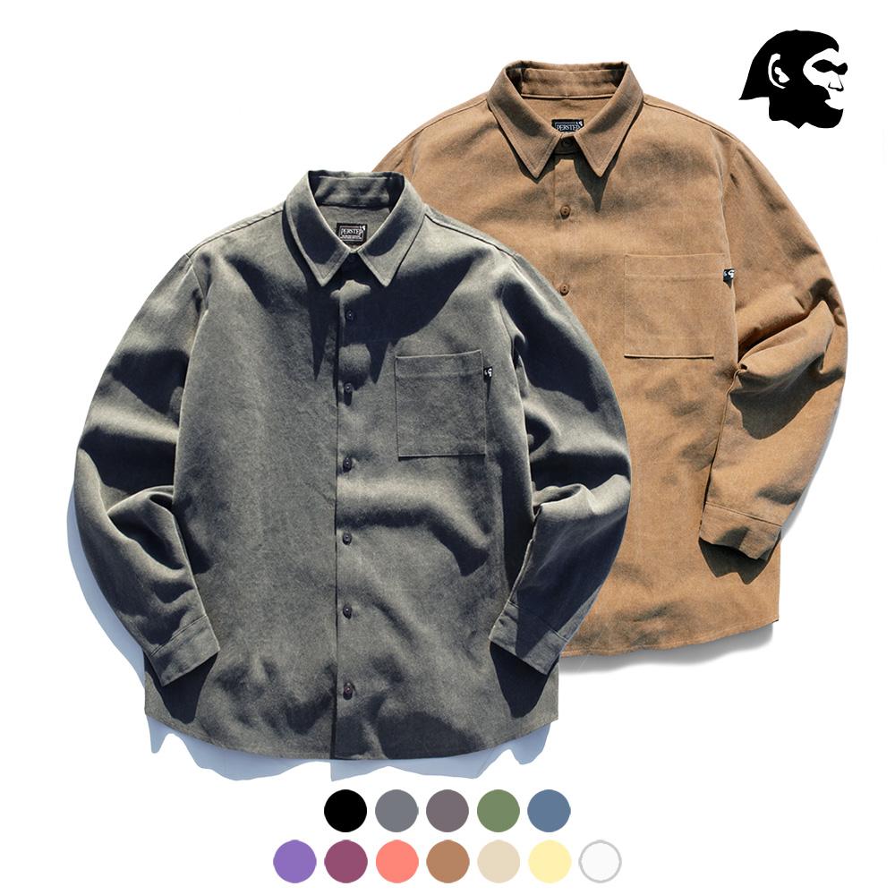 [퍼스텝] 피그먼트 루즈핏 셔츠 9종 SMLS4058 3장 패키지