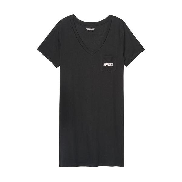 [해외]빅토리아시크릿 보이프렌드 슬립셔츠 블랙