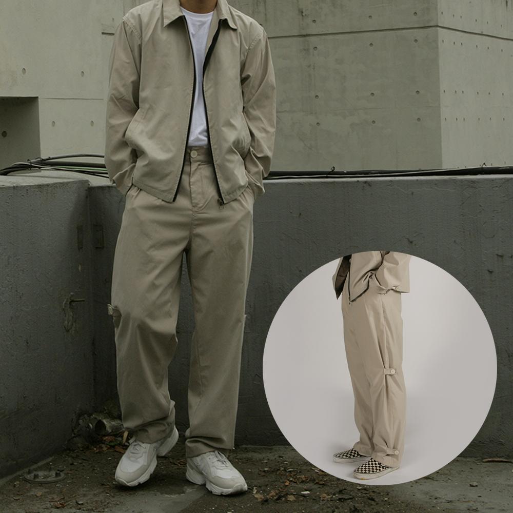[자토] 버튼 트랜스폼 팬츠 - beige