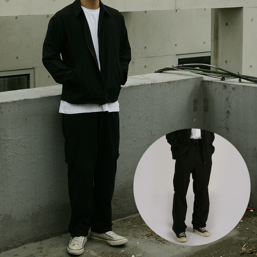 [자토] 버튼 트랜스폼 팬츠 - black