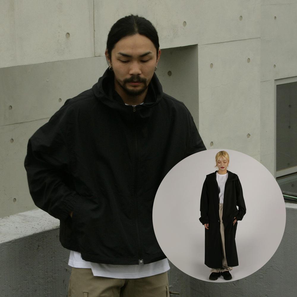 [자토] 트랜스폼 윈드브레이커 - black