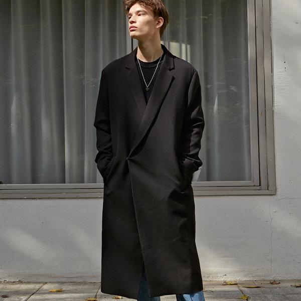 [DEANS] [11/18] HIDDEN OVER LONG COAT_BLACK