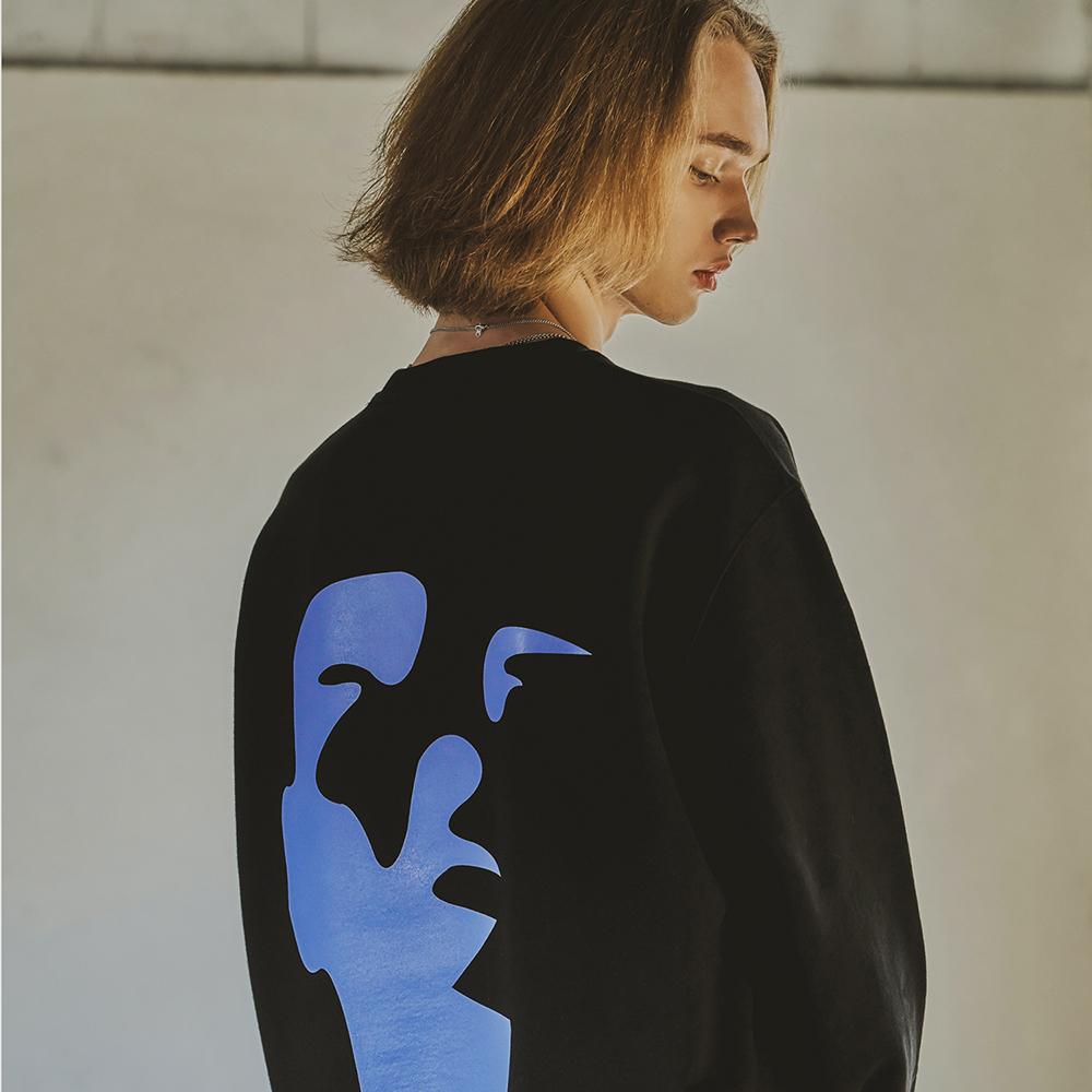 Face Sweatshirts(Black)