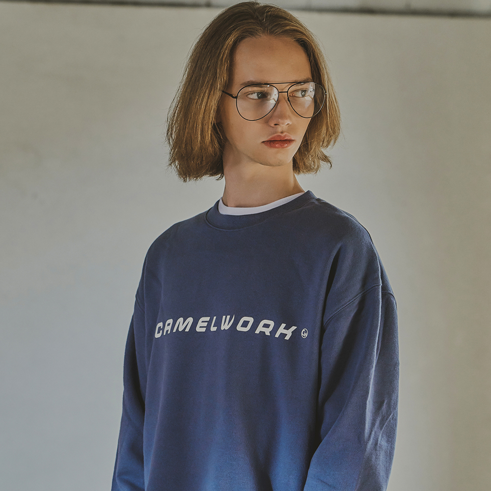 Basic Logo Sweatshirts(I.Blue)