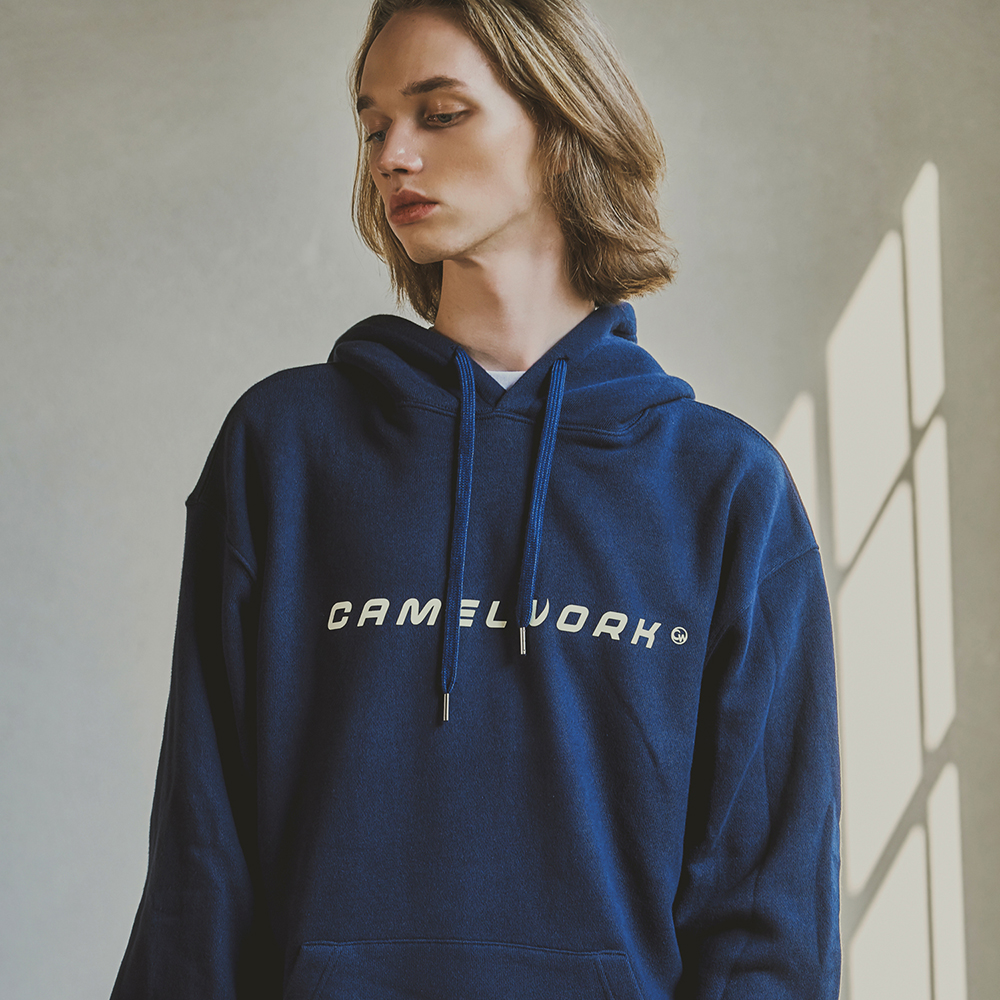 Basic Logo Heavy Weight Hoodie(Navy)