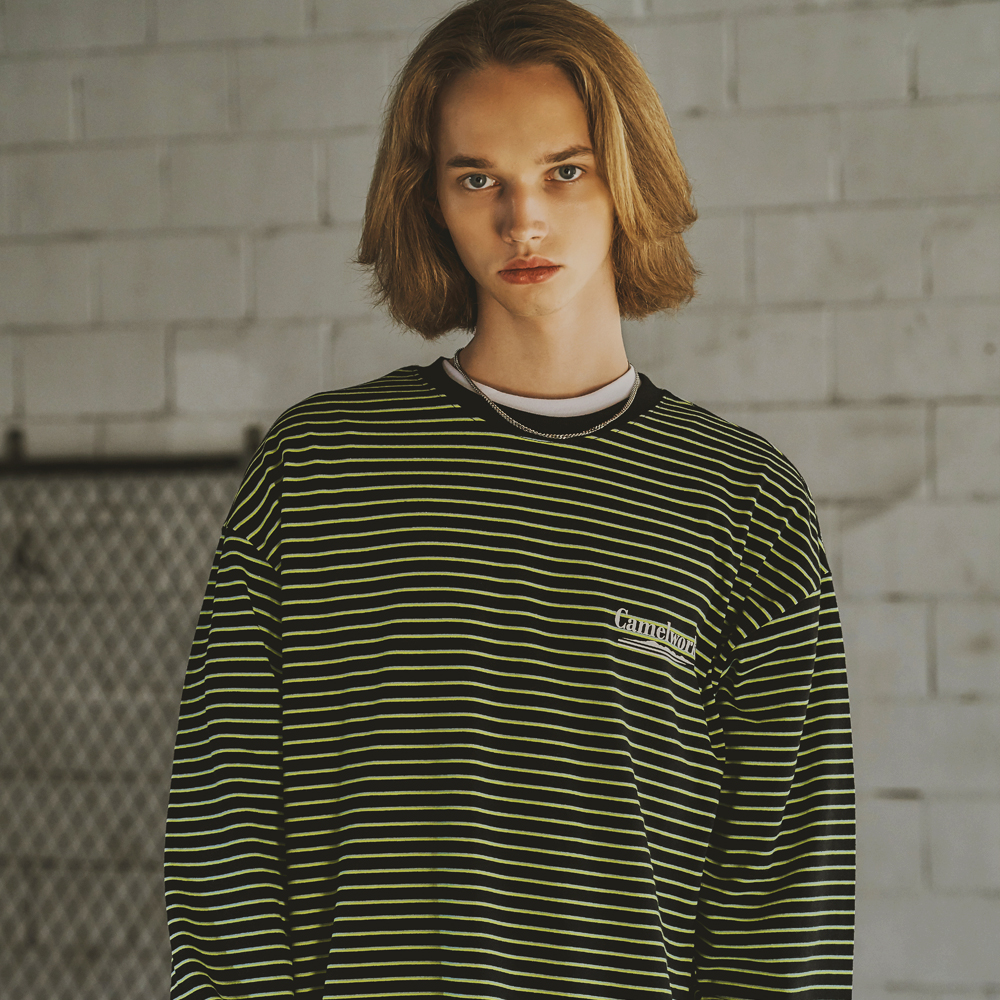 3 Way Stripe L/S T-Shirts(Neon)