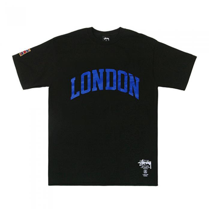 [스투시 반팔티] LONDON IST PKT TEE-BLK