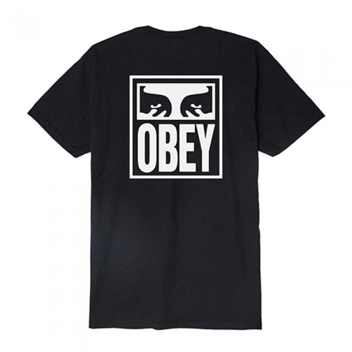 [오베이 반팔티] (163081874) OBEY EYES ICON TEE-BLK
