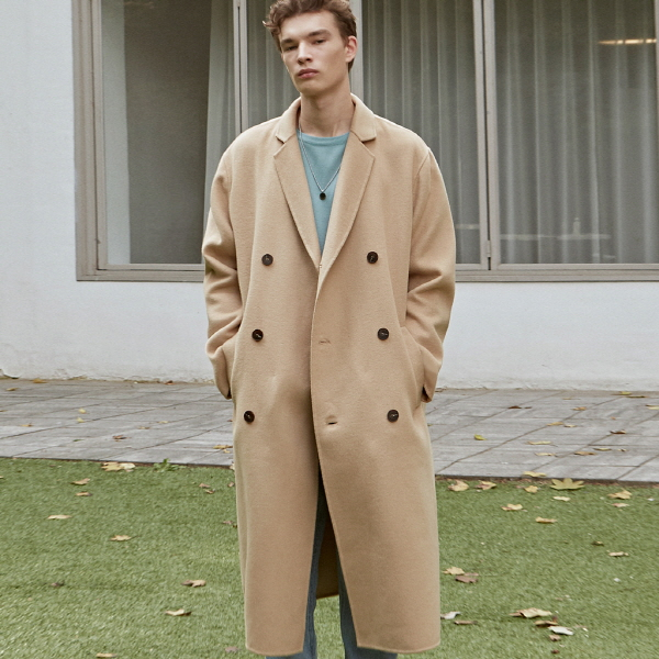 [DEANS] BREEZE WOOL DOUBLE COAT_BEIGE