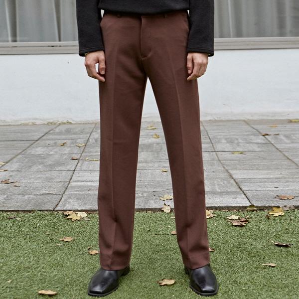 [DEANS] SEMI BOOTS LONG SLACKS_CHOCO
