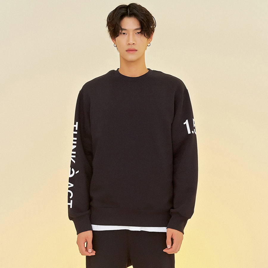 [입점세일]THINK SWEATSHIRTS BLACK