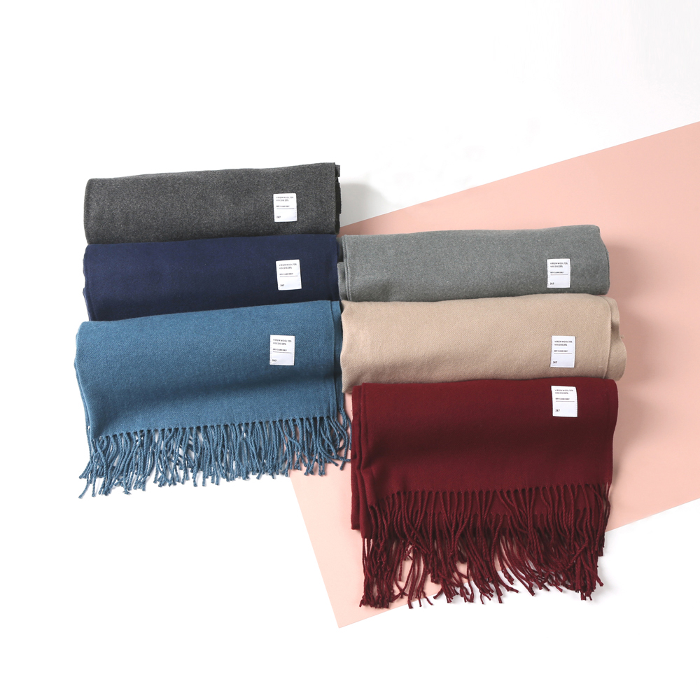 247 VIRGIN WOOL MUFFLER [7 COLORS]