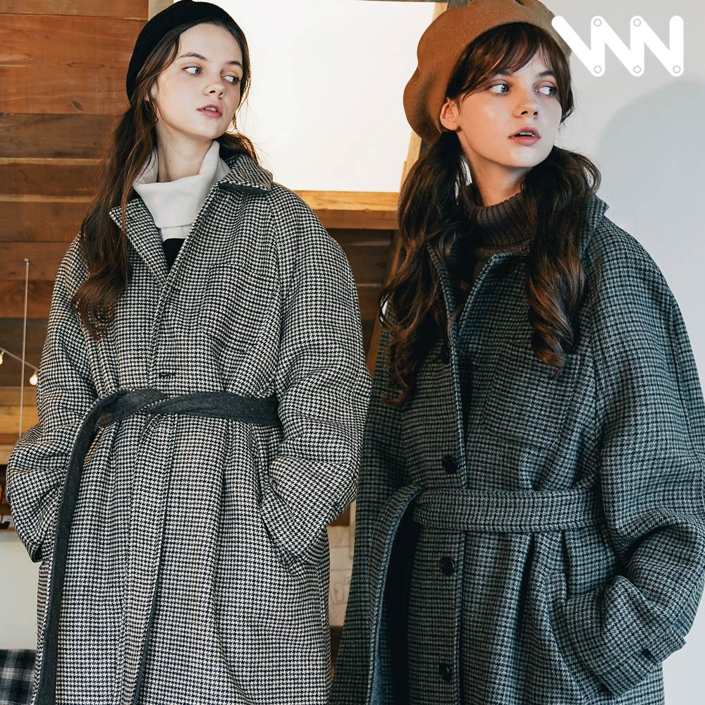 [더블유브이프로젝트] 씬 오버핏 체크 싱글코트 4종 MJOT7295