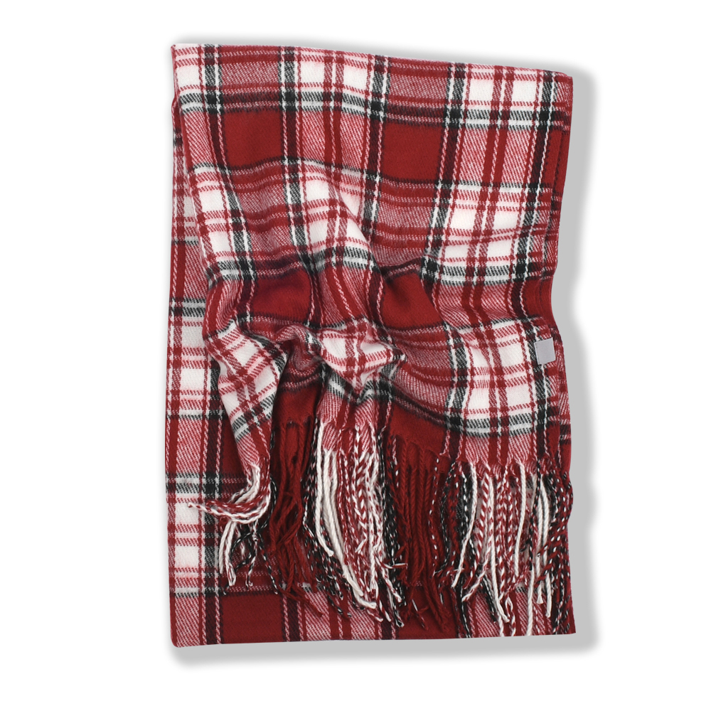 247 CLASSIC PLAID MUFFLER [BURGUNDY (SCOTT MODERN)]