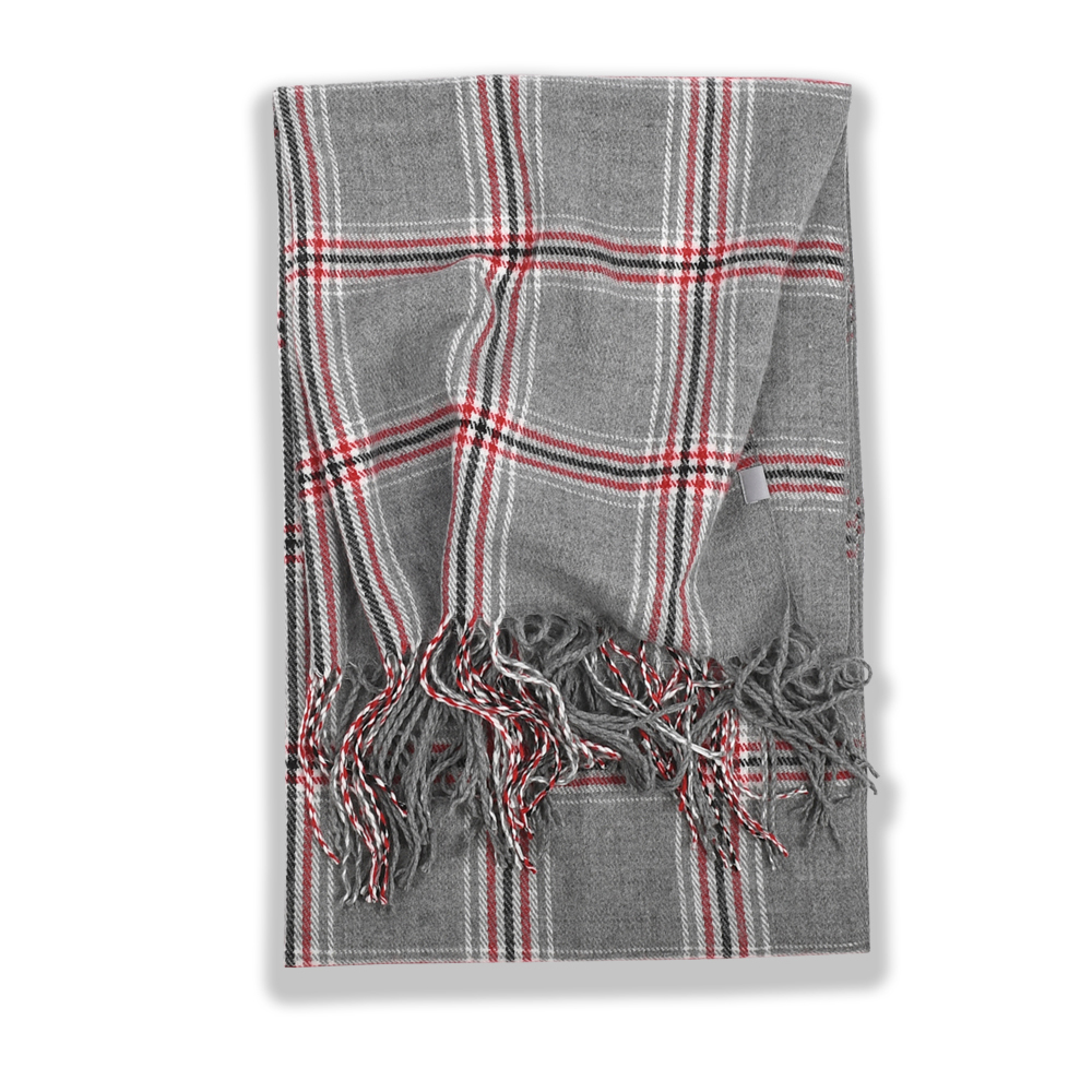 247 CLASSIC PLAID MUFFLER [GREY (GREY HIGHLAND)]