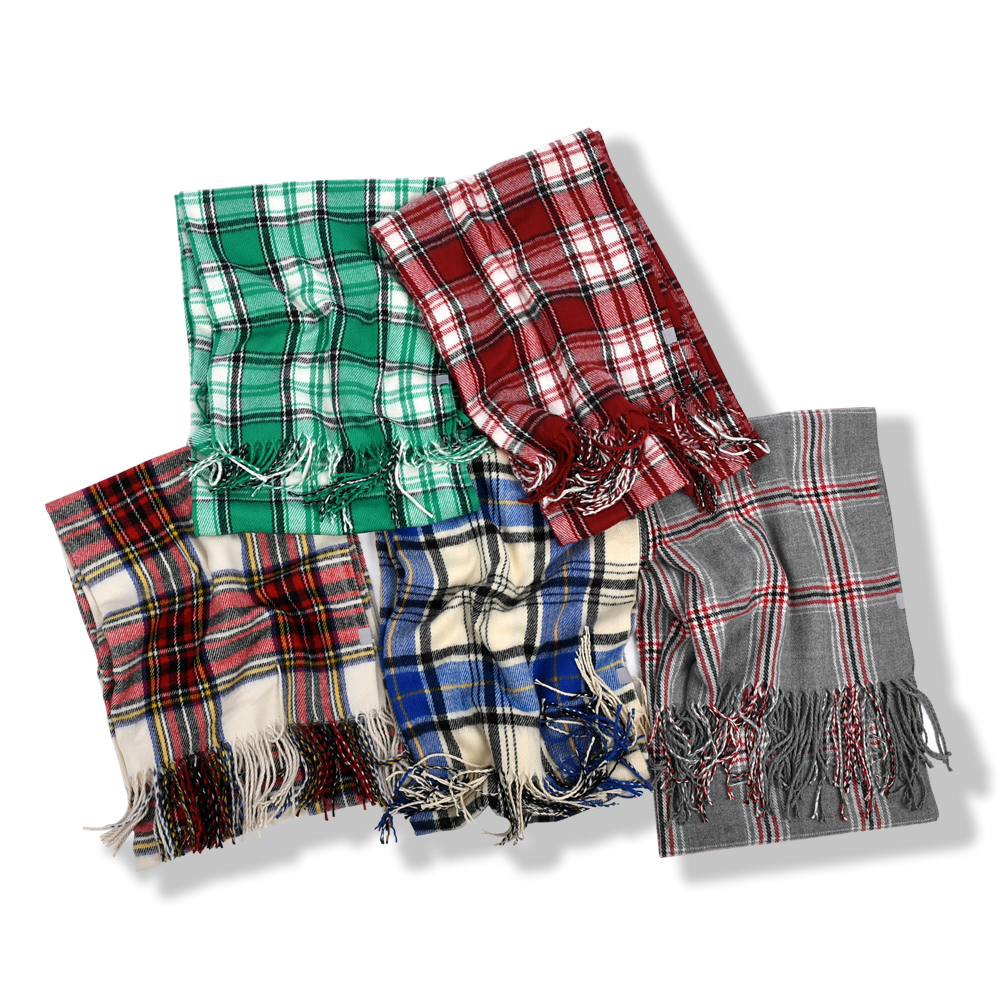 [1+1] 247 CLASSIC PLAID MUFFLER [7 COLORS]