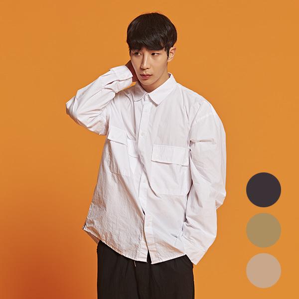 [올앤드]남성 바이오워싱 코튼 셔츠_LMBSI2602-100