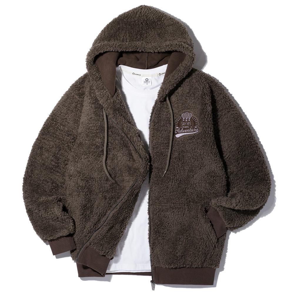 [앨빈클로]AZH-598 포근한 양털 후리스 후드 집업 자켓