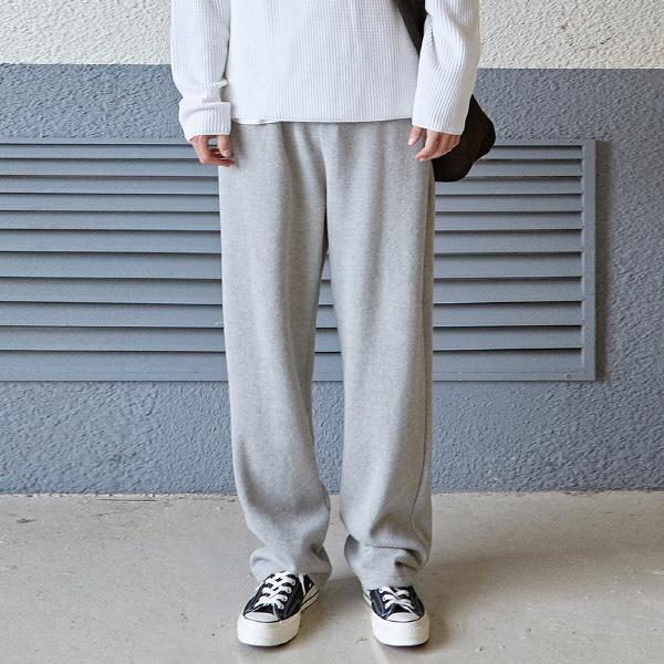 [12/4] SOFT WIDE LONG PANTS_GRAY