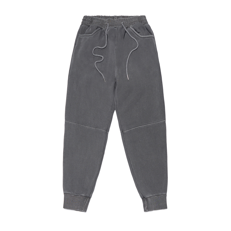 STIGMA SCRAPE PIGMENT HEAVY SWEAT JOGGER PANTS DARK GREY