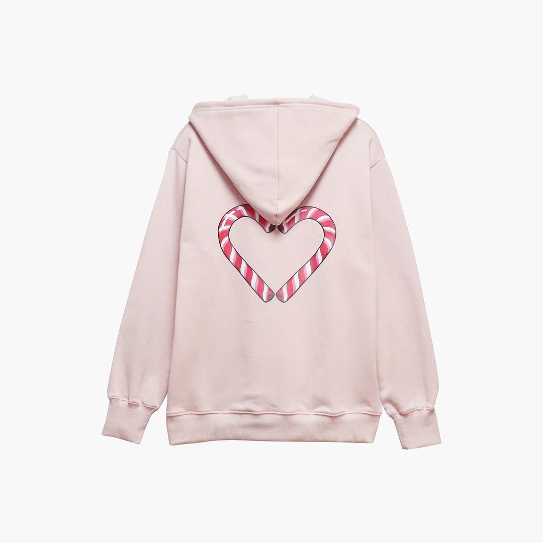 [기모] MYKIM Candy cane hoodie