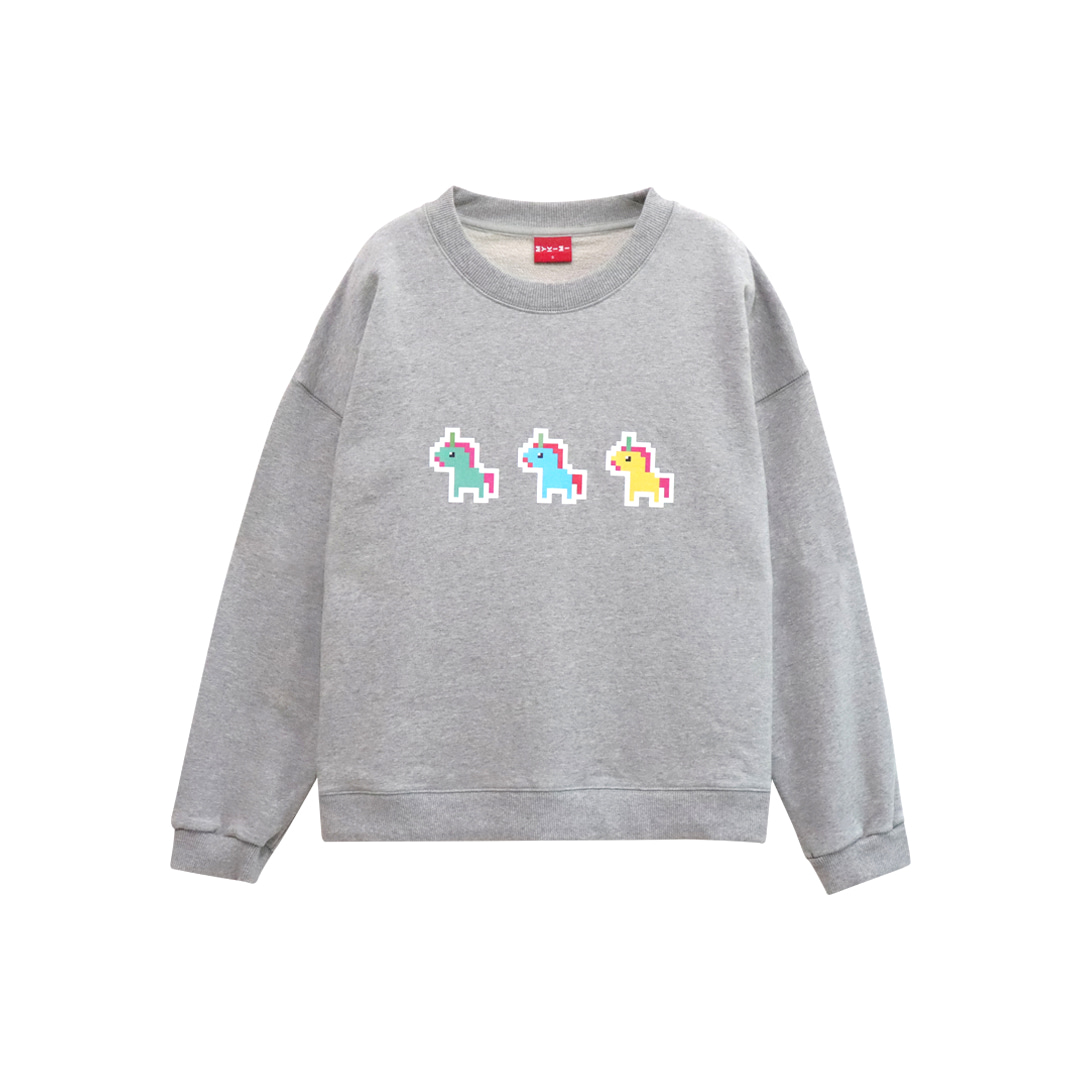 MYKIMI Unicorn sweat shirt Gray